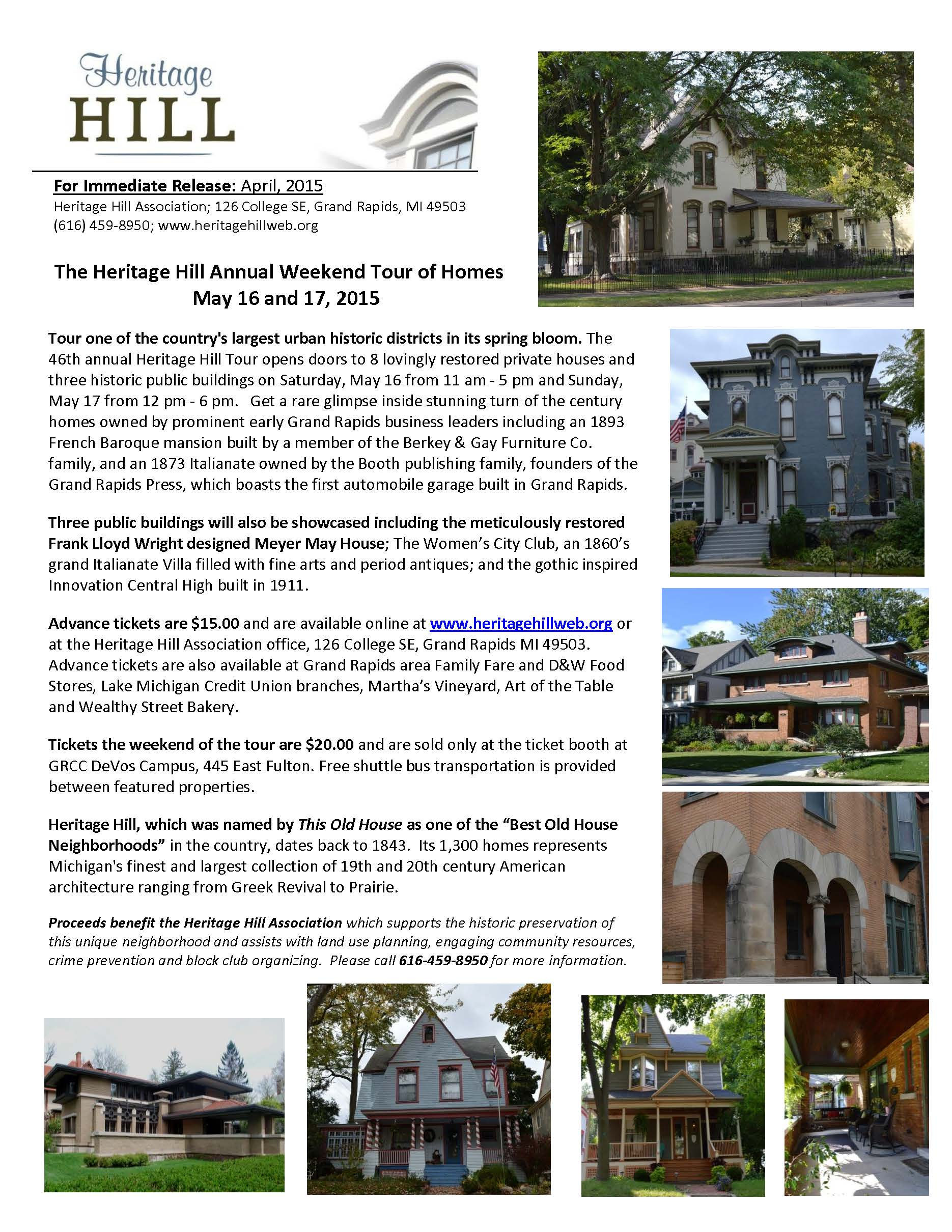Annual Heritage Hill Weekend Tour of Homes