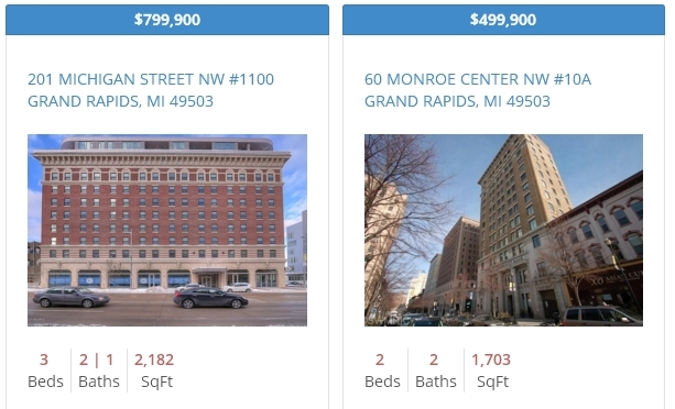 Grand Rapids Downtown Condo Listings